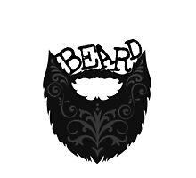 Ornate Black Beard Photographic Print
