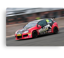 British Touring Car - Onslow Cole - Golf Mk 5 Canvas Print