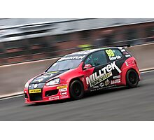 British Touring Car - Onslow Cole - Golf Mk 5 Photographic Print