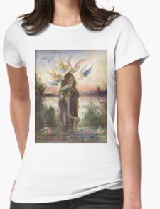 The Sacred Elepant Painting (1882) Womens Fitted T-Shirt