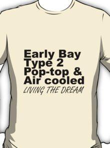 Early Bay Pop Type 2 Pop Top Black T-Shirt