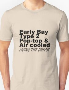 Early Bay Pop Type 2 Pop Top Black LTD Unisex T-Shirt
