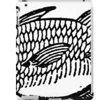 Woodcut Fish  iPad Case/Skin
