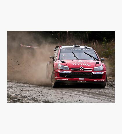 World Rally Car - Sebastien Loeb Photographic Print