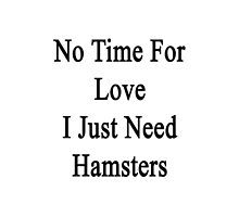 No Time For Love I Just Need Hamsters by supernova23