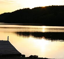 The Dock at Sunset by Ed Warick