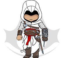 Assassins Creed Chibi Altaïr Ibn-La'Ahad  by SushiKittehs