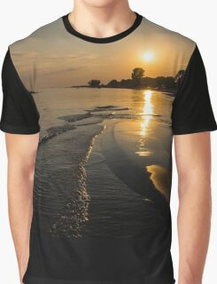 Golden Sands and Gentle Waves - Lake Erie, Ontario, Canada Graphic T-Shirt