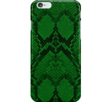 Neon Green and Black Snake Skin Reptile Scales iPhone Case/Skin