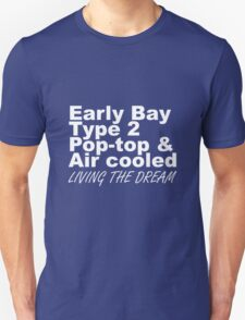 Early Bay Pop Type 2 Pop Top White LTD Unisex T-Shirt