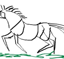 Stylised Galloping Horse Sticker