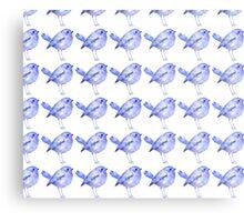 Blue Bird Pattern Metal Print