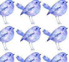 Blue Bird Pattern Sticker