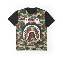 BAPE SHARK WOODLAND CAMO Graphic T-Shirt