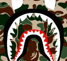 BAPE SHARK WOODLAND CAMO Sticker