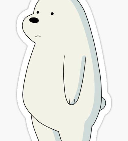 Ice Polar Bear Cartoon Sticker