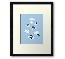 Puzzle Ice Framed Print
