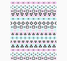 Aztec Influence Pattern III Blue Black Pink White Unisex T-Shirt