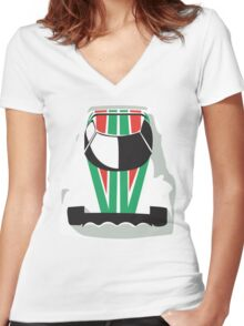 Lancia Stratos rally Women's Fitted V-Neck T-Shirt