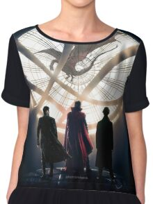 Benedict Cumberbatch 4 iconic characters by lichtblickpink Chiffon Top