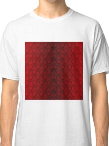 Red and Black Python Snake Skin Reptile Scales Classic T-Shirt