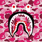 BAPE SHARK PINK CAMO by pointgraphics
