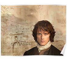 Outlander/Jamie Fraser with Lallybroch background Poster