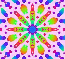 Psychedelic kaleidoscope flower by chloemease