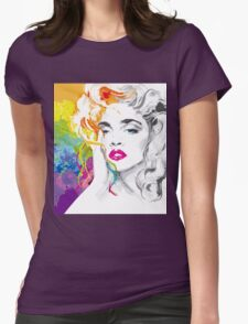 Rainbow girl Womens Fitted T-Shirt