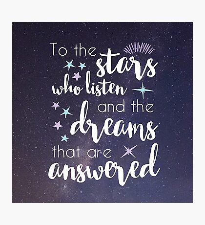 The Stars Who Listen Photographic Print