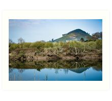 Idyllic landscape in Cantabria Art Print