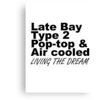 Late Bay Pop Type 2 Pop Top Black LTD Canvas Print