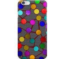 Dots and Sticks Red iPhone Case/Skin