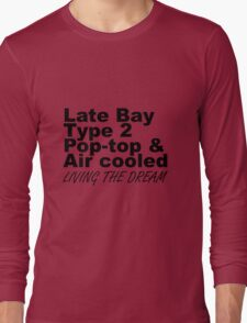 Late Bay Pop Type 2 Pop Top Black LTD Long Sleeve T-Shirt