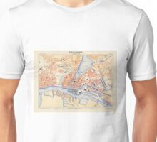 Vintage Map of Hamburg Germany (1888) Unisex T-Shirt