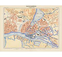 Vintage Map of Hamburg Germany (1888) Photographic Print