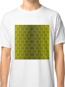 Golden Yellow and Black Python Snake Skin Reptile Scales Classic T-Shirt