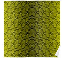 Golden Yellow and Black Python Snake Skin Reptile Scales Poster