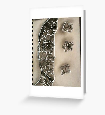 pieces of a larger puzzle Greeting Card