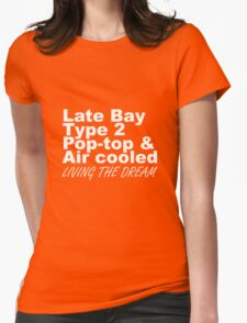 Late Bay Pop Type 2 Pop Top White LTD Womens Fitted T-Shirt