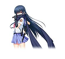 angel beats ninja scarf! Photographic Print