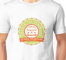 Retro Badge Seventies Orange Green Unisex T-Shirt
