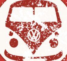 Retro Badge Sixties Red Blue Grunge Sticker