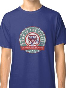 Retro Badge Sixties Red Green Grunge Classic T-Shirt