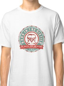 Retro Badge Sixties Red Green Grunge Classic T-Shirt