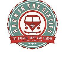 Retro Badge Sixties Red Green by splashgti