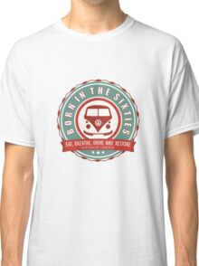 Retro Badge Sixties Red Green Classic T-Shirt
