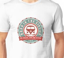 Retro Badge Sixties Red Green Unisex T-Shirt