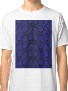 Midnight Blue Python Snake Skin Reptile Scales Classic T-Shirt