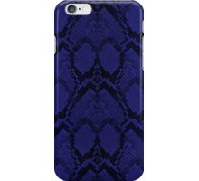 Midnight Blue Python Snake Skin Reptile Scales iPhone Case/Skin